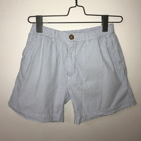 Pants - BLUE AND WHITE STRIPPED SHORTS